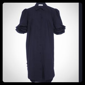 Beautiful Frame Denim dress w/ ruffle sleeves
